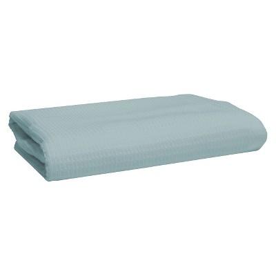 Blank Home Fade to Grey Waffle Portuguese Hand Towel - Aqua