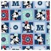 Mickey Plaid Dots Patch Fabric