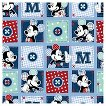 Mickey Plaid Dots Patch Fabric