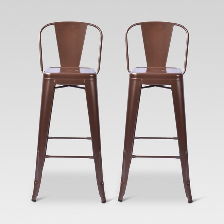 Carlisle 29 Quot Backed Barstool Set Of 2 Target
