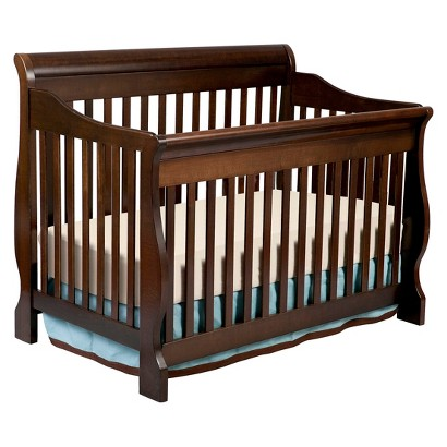 A) A bed with a frame. (Ours is a standard queen sized bed and it works perfectly.) B) A crib, minus one long side. C) Hardware for assembling said crib.