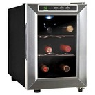 Vinotemp 6 Bottle Thermoelectric Wine Cooler - Black/Stainless