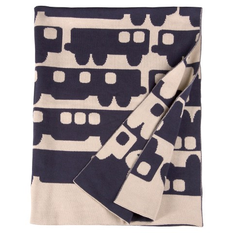 Orla Kiely Reversible Baby Blanket - Blue Cars