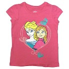 Disney® Frozen Toddler Girls' Anna and Elsa Tee - Bright Pink