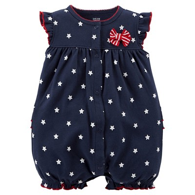 Just One You™Made by Carter's® Newborn Girls' Star Print Romper - Navy 3 M
