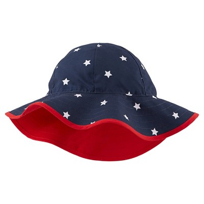 Just One You™Made by Carter's® Newborn Star Print Bucket Hat - Navy/Red 6-9 M