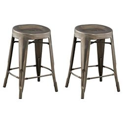 Saddle Seat 24 Quot Counter Stool Steel Set Of 2 Ace Bayou