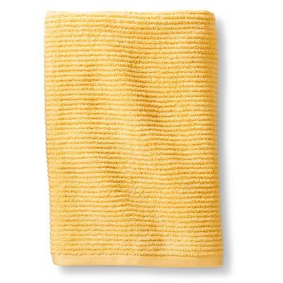 Blank Home Ribbed Portuguese Bath Towel - Yellow