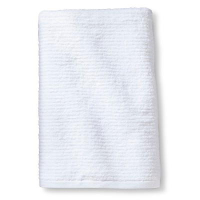 Blank Home Ribbed Portuguese Bath Towel - White