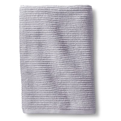 Blank Home Ribbed Portuguese Bath Towel - Silver