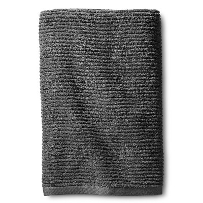 Blank Home Ribbed Portuguese Bath Towel - Dark Grey