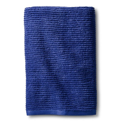 Blank Home Ribbed Portuguese Bath Towel - Ultramarine