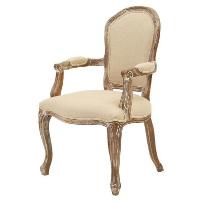 Maryland Fabric Armchair Weathered Wood/Beige - Christopher Knight Home