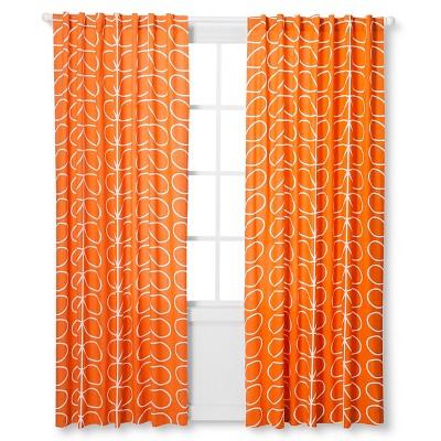 Curtain Panels Orla Kiely Pumpkin Leaf