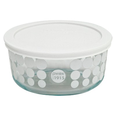 Pyrex 100 Year Decorated Storage 4 Cup - White