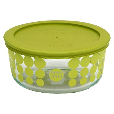 Pyrex 100 Year Decorated Storage 4 Cup - Green