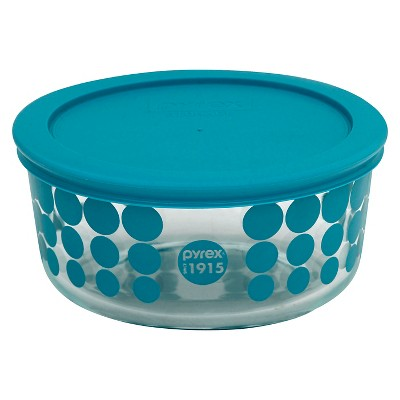Pyrex 100 Year Decorated Storage 4 Cup - Turquoise