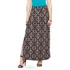 Women's Knit Maxi Skirt with Side Slits - Studio 253
