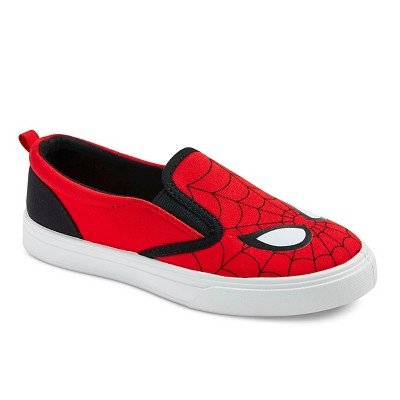 Toddler Boy's Spiderman Canvas Sneakers - Red 8