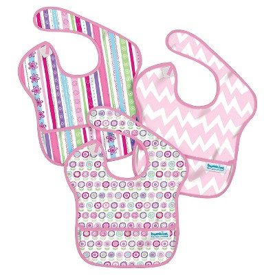 Bumkins Waterproof SuperBib 3 Pack, Girl