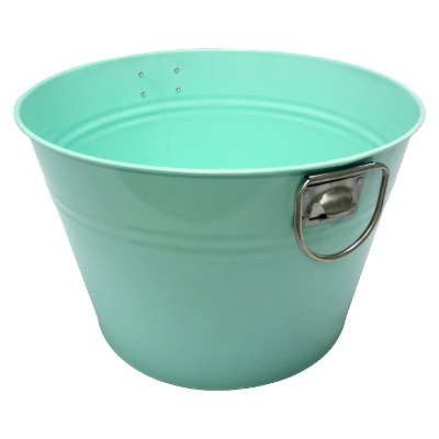 Calibrated Galvanized Steel Round Beverage Tub - Aqua Float