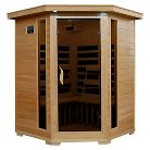 Radiant Saunas 3-Person Hemlock Corner Carbon Infrared Sauna with 7 Heaters