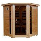 Radiant Saunas 4-Person Hemlock Corner Carbon Infrared Sauna with 10 Heaters