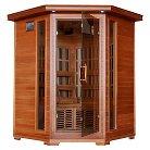 Radiant Saunas 3-Person Cedar Corner Carbon Infrared Sauna with 7 Heaters
