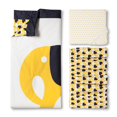 Orla Kiely 3pc Crib Bedding Set Elephants