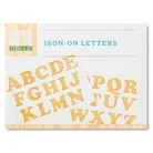 Hand Made Modern - Iron-On Letters - Gold Glitter