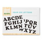 Hand Made Modern - Iron-on Letters - Black