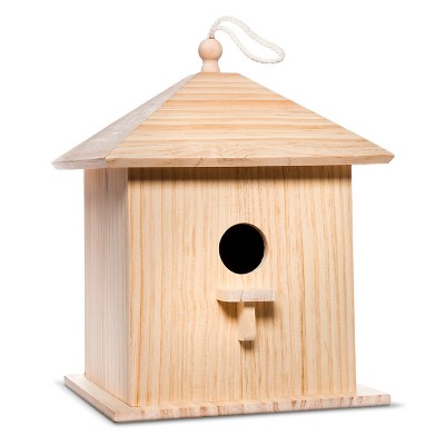Hand Made Modern - Large Wood Birdhouse - Pine