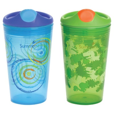 Summer Infant®  Sippy Stackers™   10oz Sippy Cups - Dinosaurs & Circles 2-Pack