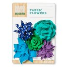 Hand Made Modern - Canvas Fabric Flowers - Cool Colors