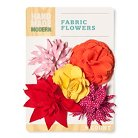Hand Made Modern - Canvas Fabric Flowers  - Warm Colors