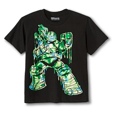 Boys' Teenage Mutant Ninja Turtles Camo Graphic Tee - Black