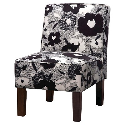 Burke Accent Print Slipper Chair - Ace Carys Ink