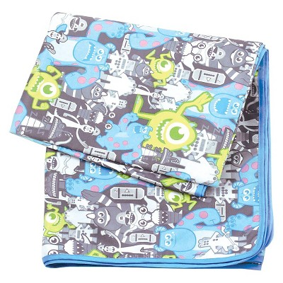 Bumkins Disney Splat Mat, Monsters Gray