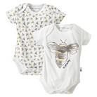 Burt's Bees Baby Organic Watercolor Bee Graphic Bodysuit +  Mini Bees Bodysuit Set