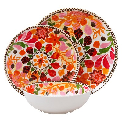 Threshold™ Mosaic Design 12 Piece Dinnerware Set - Multi Colored