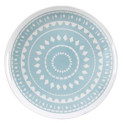 Threshold™ Geometric Pattern Serve Tray - White
