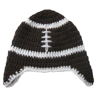 So Dorable Baby Boys' Football Beanie - Brown 0-12 M