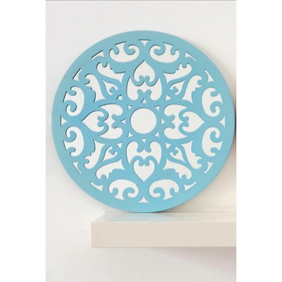 Drew Derose Decorative Wall Mirror - Blue (Medium)