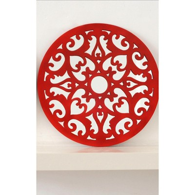 Drew Derose Decorative Wall Mirror - Fiesta Red