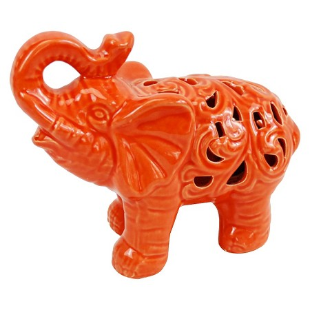 Orange Decorative Elephant Ceramic Figurine Target