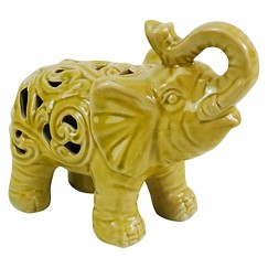 Drew Derose Decorative Elephant Ceramic Figurine - Yellow