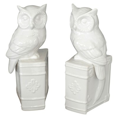 Drew Derose Ceramic Bookend Set - White