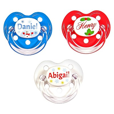 MeaMagic Christmas Personalized Pacifier Set