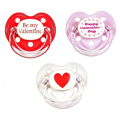 MeaMagic Valentines Day Pacifier Set