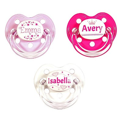 MeaMagic Girl Princess Pacifier Set